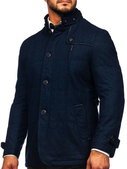 Granatowy krótki płaszcz męski kurtka Denley EX66A