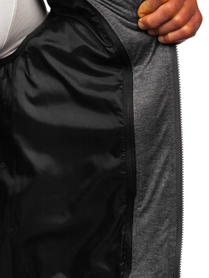 Kamizelka męska pikowana  z kapturem czarna Denley B2679