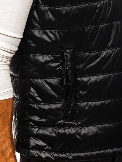 Kamizelka męska z kapturem czarna Denley 6105