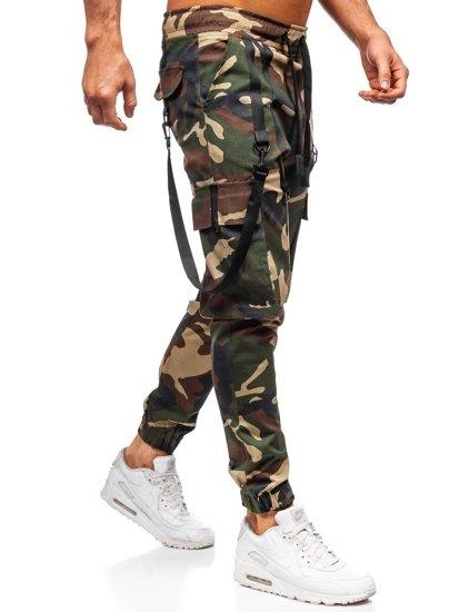 Khaki spodnie joggery bojówki męskie Bolf 11105