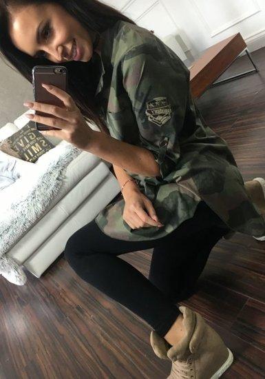 Koszula damska khaki Denley 6280