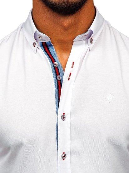 Koszula męska elegancka z długim rękawem biała Bolf 5801-A