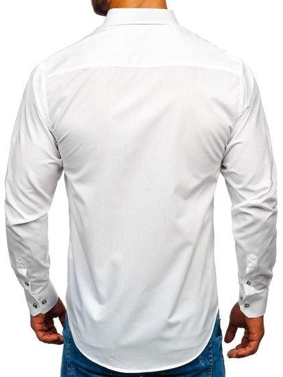 Koszula męska elegancka z długim rękawem biała Bolf 6920