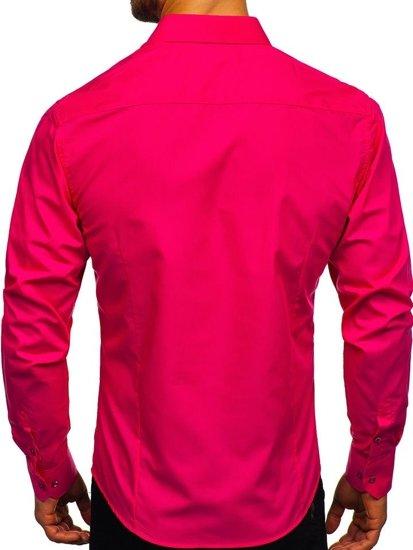 Koszula męska elegancka z długim rękawem koralowa Bolf 1703