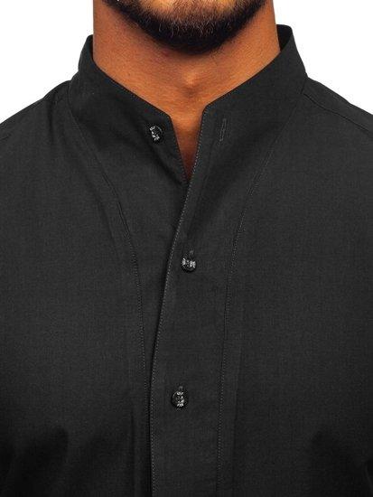 Koszula męska z długim rękawem czarna Bolf 5702