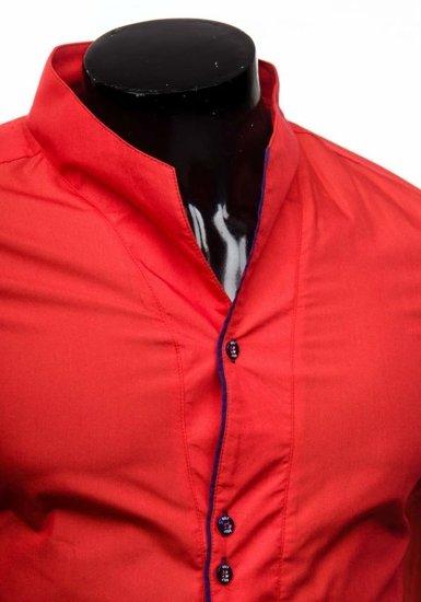 Koszula męska z długim rękawem czerwona Bolf 5720-1