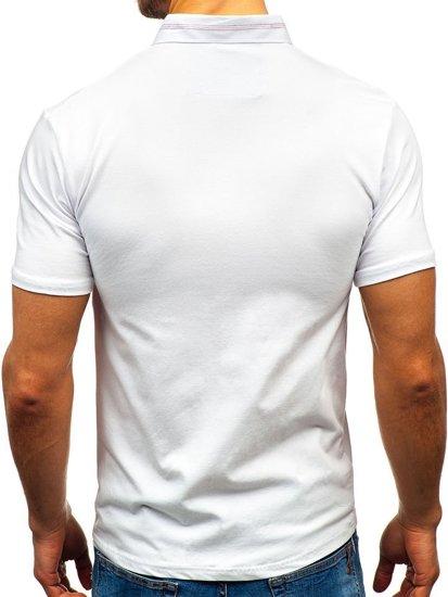 Koszulka polo męska biała Denley 192037