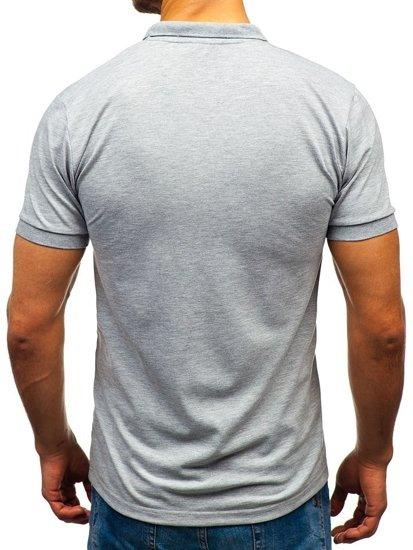 Koszulka polo męska szara Bolf 171221