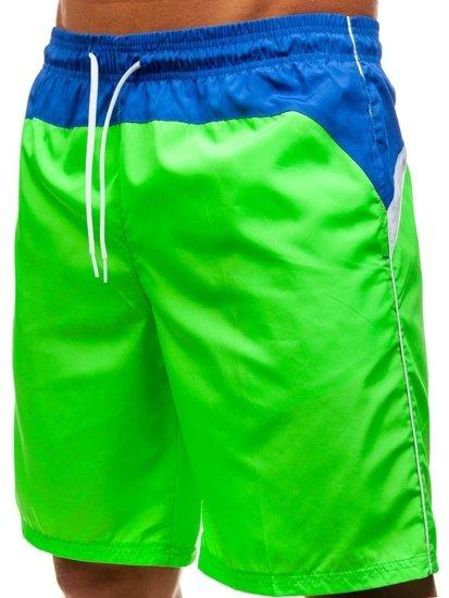 Krótkie spodenki kąpielowe męskie zielone Denley 247