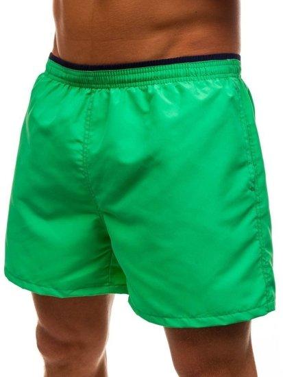 Krótkie spodenki kąpielowe męskie zielone Denley Y768