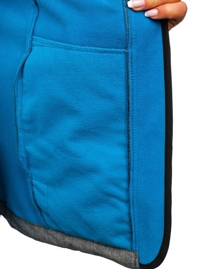 Kurtka damska przejściowa softshell szaro-niebieska Denley AB053