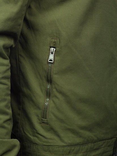 Kurtka męska przejściowa bawełniana zielona Denley 1816