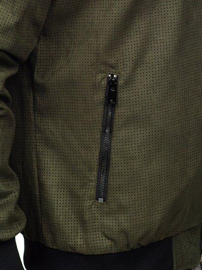 Kurtka męska przejściowa bomberka zielona Denley 6117