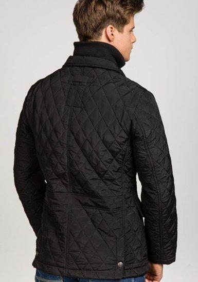 Kurtka męska przejściowa elegancka czarna Denley 101