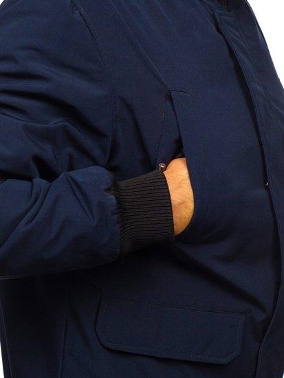 Kurtka męska przejściowa granatowa Denley 2019005