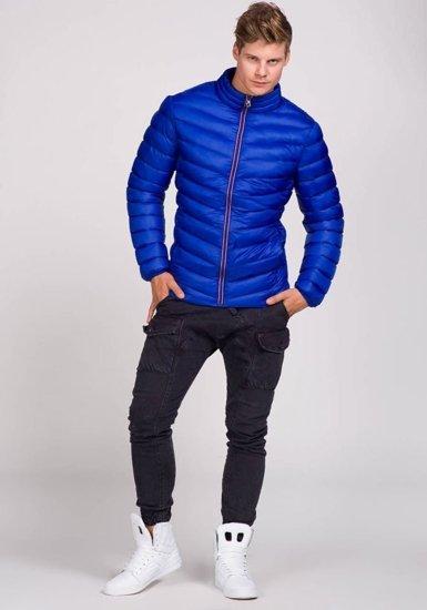 Kurtka męska przejściowa niebieska Denley 3082