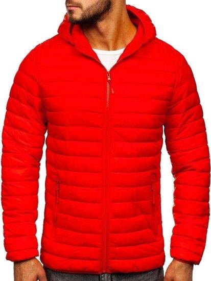 Kurtka męska przejściowa pikowana czerwona Denley LY35