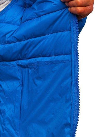 Kurtka męska przejściowa pikowana niebieska Denley 1119