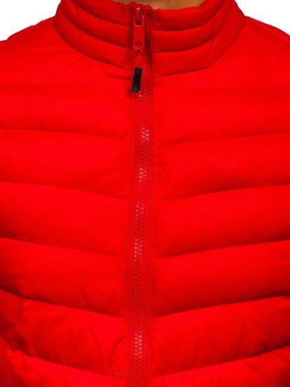 Kurtka męska przejściowa sportowa czerwona Denley SM70