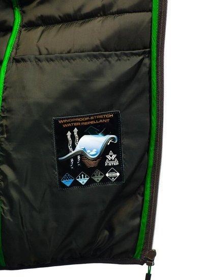 Kurtka męska przejściowa sportowa khaki Denley AB033