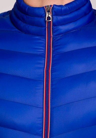 Kurtka męska przejściowa sportowa niebieska Denley 3082