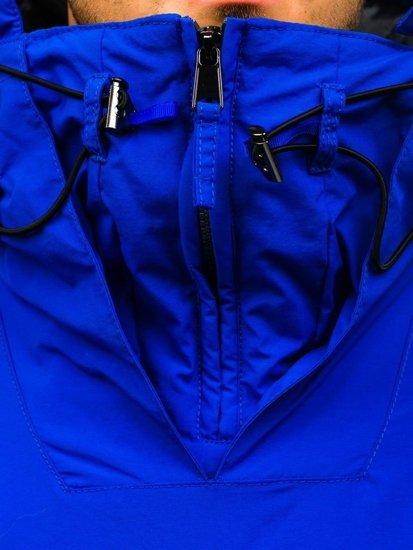 Kurtka męska przejściowa sportowa niebieska Denley JS166