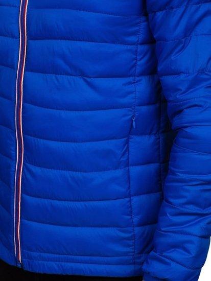 Kurtka męska przejściowa sportowa niebieska Denley LY1017