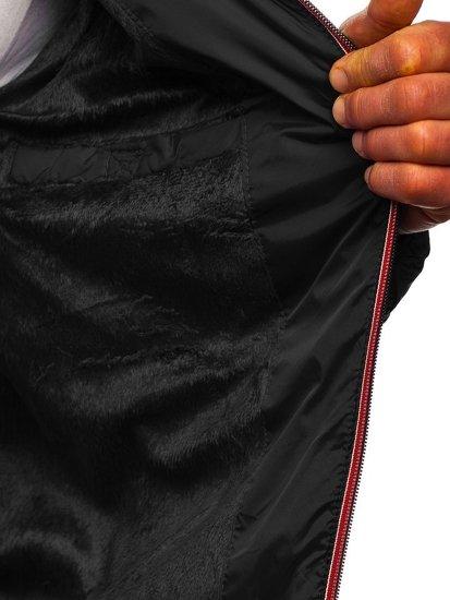 Kurtka męska przejściowa sportowa pikowana czarna Denley 50A160