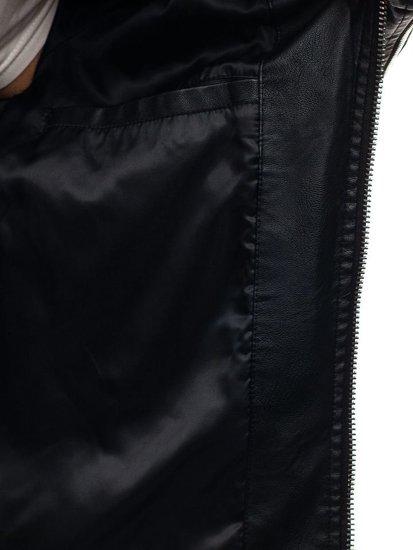 Kurtka męska skórzana czarna Denley 9111