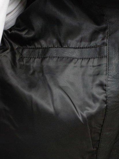 Kurtka męska skórzana czarna Denley 9129