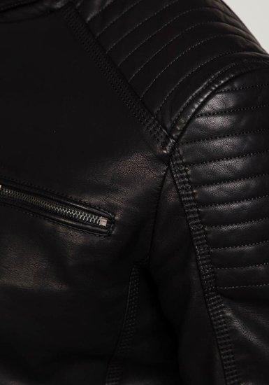 Kurtka męska skórzana czarna Denley ex305