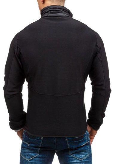 Kurtka męska softshell czarna Denley s015