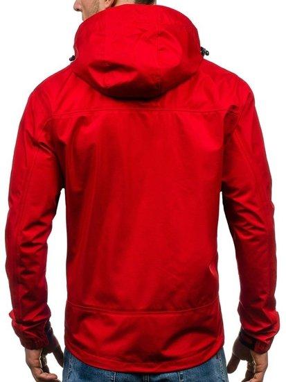 Kurtka męska softshell czerwona Denley 5505