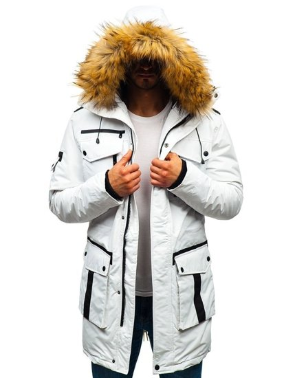 Kurtka męska zimowa biała Denley 201812