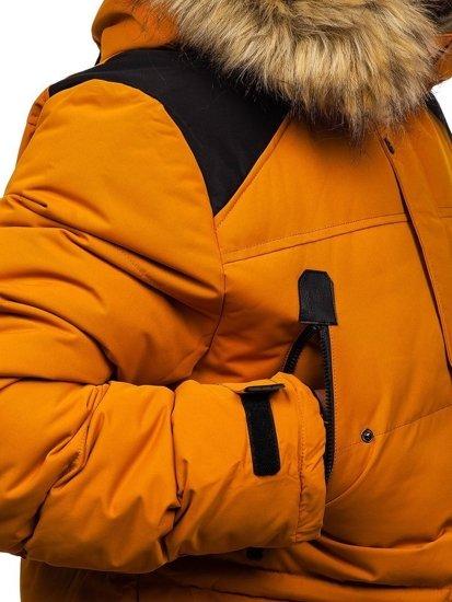 Kurtka męska zimowa camelowa Denley 5948