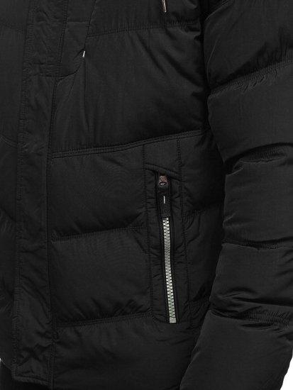 Kurtka męska zimowa czarna Denley 1664