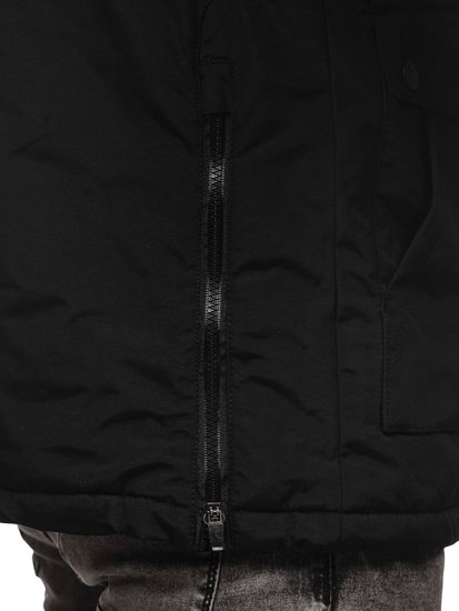 Kurtka męska zimowa czarna Denley 1827