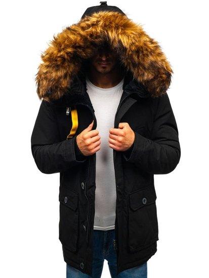 Kurtka męska zimowa czarna Denley 99126