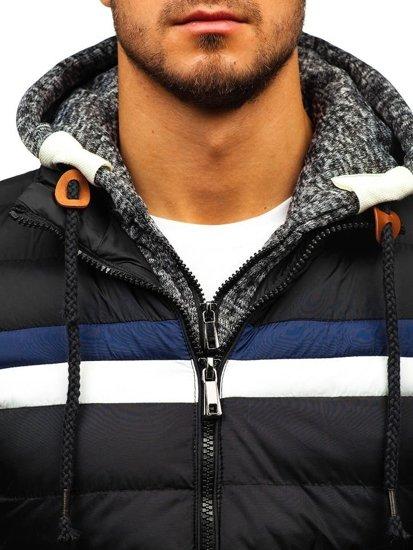 Kurtka męska zimowa czarna Denley A181