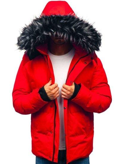 Kurtka męska zimowa czerwona Denley 201821