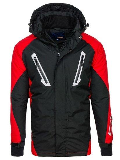 Kurtka męska zimowa narciarska czarna Denley F809