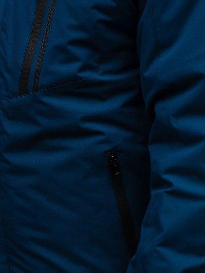 Kurtka męska zimowa narciarska granatowa Denley HZ8107