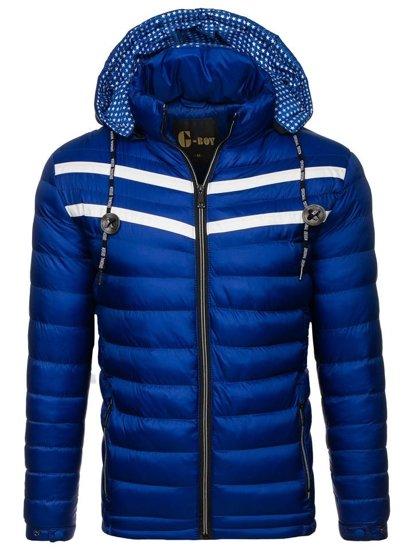 Kurtka męska zimowa niebieska Denley A211