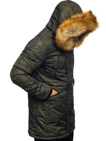 Kurtka męska zimowa parka alaska khaki Denley JK339