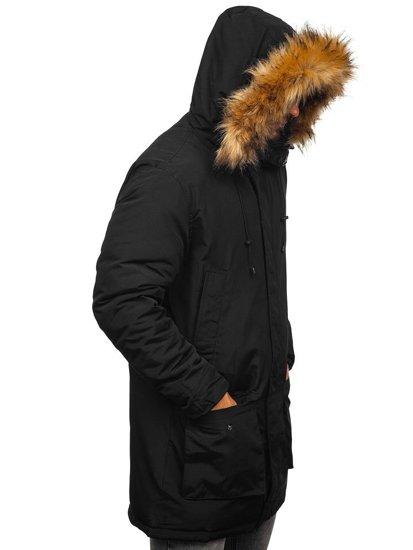 Kurtka męska zimowa parka czarna Denley 201902