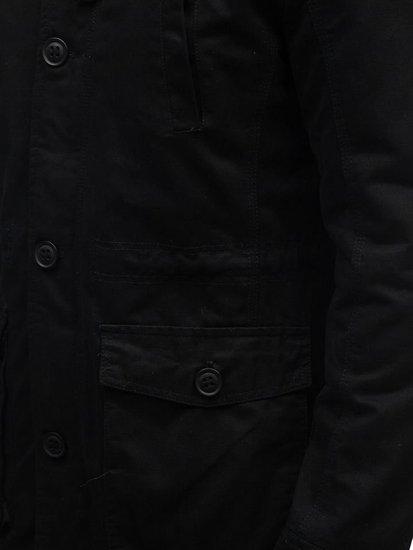 Kurtka męska zimowa parka czarna Denley 88709