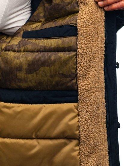 Kurtka męska zimowa parka granatowa Denley 1071