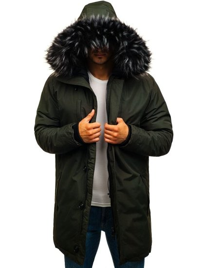 Kurtka męska zimowa parka khaki Denley 201811