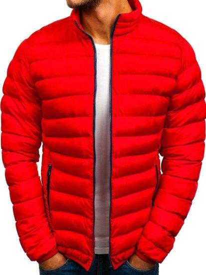 Kurtka męska zimowa sportowa czerwona Denley SM50