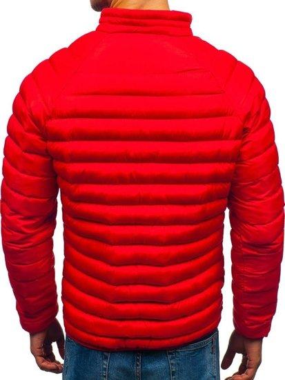 Kurtka męska zimowa sportowa czerwona Denley SM53